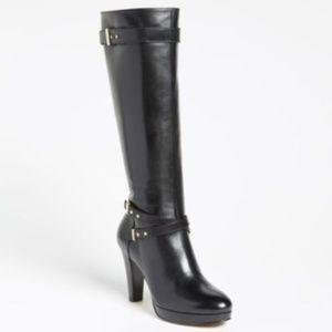 Cole Haan 'Air Cara' High Heel Leather boot -black